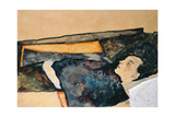 Artist's Mother Sleeping Giclee Print by Egon Schiele