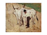 Herdsman and Cattle Giclee Print by Giovanni Fattori