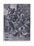 Fighting at the Barricade Ad 1847 Giclee Print by Gordon Frederick Browne