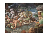 Frescoes in Chamber of Giants Giclee Print by Giulio Romano