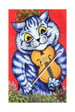 Cat on the Fiddle Giclee Print by Louis Wain