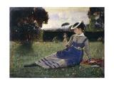 Alaide in Garden, 1867 Impression giclée par Cristiano Banti