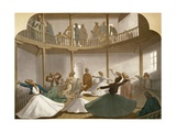 Whirling Dervishes, Ca 1870 Giclee Print by Henri De Montaut