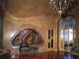 Ceramic Fireplace, Batllo House Photographic Print