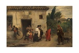 El Santo Óleo, or the Holy Oil, 1871 Giclee Print by Jose Jimenez aranda