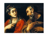 The Denial of Saint Peter Giclee Print by Daniele Crespi