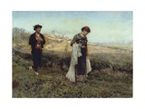 Courtship Giclee Print by Francesco Paolo Michetti