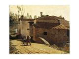 Piagentina Milkman, 1864 Giclee Print by Giuseppe Abbati