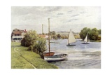 Racing Boats, Bourne End Giclee Print by Alfred Robert Quinton