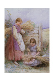 The Young Gleaners Giclee Print by Myles Birket Foster