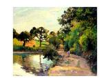 A Pond at Montfoucault, 1874 Reproduction procédé giclée par Camille Pissarro