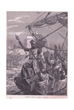 Richard Landing at Jaffa Ad 1192 Giclee Print by Francois Edouard Zier