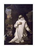 St Bruno Praying in Desert, by Nicolas Mignard Giclee Print