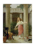 In the Peristyle Giclee Print by John William Waterhouse