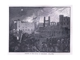 Burning of the Houses of Parliament 1834 Giclee Print by Paul Hardy