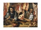 The Butcher's Giclee Print by Bartolomeo Passarotti