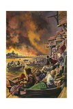 The Great Fire of London 1666 Giclee Print by Peter Jackson