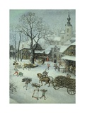 Winter Landscape Giclee Print by Lucas van Valkenborch