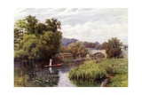 Wallingford Bridge Giclee Print by Alfred Robert Quinton