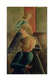 Encounter in a Room, 1928 Giclee Print by Oskar Schlemmer