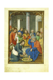 Christ Washing the Feet of Peter, 1520'S Giclee Print by Simon Bening
