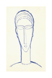 Study for a Head for a Sculpture, C.1911 Giclee Print by Amedeo Modigliani