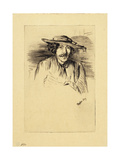 Portrait of Whistler, 1859 Giclee Print by James Abbott McNeill Whistler