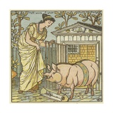 There Was a Lady Loved a Swine Giclee Print by Walter Crane