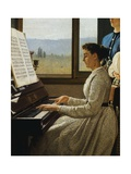 The Song of Starling Giclee Print by Silvestro Lega