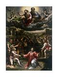 St Stephen's Martyrdom Giclée-tryk af Romano, Giulio