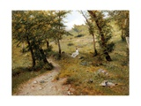Rest Stop in Forest Giclee Print by Luigi Bechi