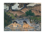 Bathers Giclee Print by Otto Muller