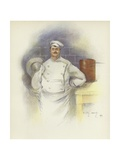 Head Chef at the Savoy Hotel Giclee Print by Dudley Hardy