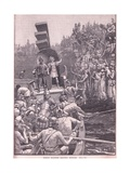 Roman Soldiers Leaving Britain AD 410 Giclee Print by Henry Marriott Paget