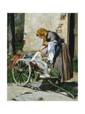 Washerwomen Near Florence, 1862 Reproduction procédé giclée par Silvestro Lega