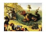Perseus Freeing Andromeda Giclee Print by Piero di Cosimo