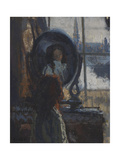Girl at a Looking-Glass, Little Rachel, 1907 Giclee Print by Walter Richard Sickert