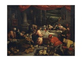 The Wedding at Cana Giclee Print by Leandro Bassano