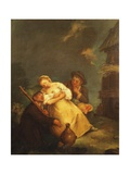 Peasant Scene Giclee Print by Pietro Longhi