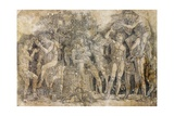 Bacchanal with Wine Vat Giclee Print by Andrea Mantegna