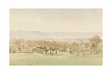 Landscape, Possibly Framlingham, Suffolk Giclee Print by Philip Wilson Steer