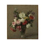 Flower Bouquet, 1900 Giclee Print by Ignace Henri Jean Fantin-Latour
