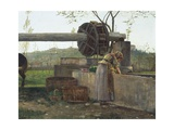 The Pumping Machine Giclee Print by Silvestro Lega
