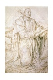 Study for St Luke Giclee Print by Hugo van der Goes