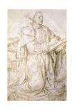 Study for St Luke Giclee Print by Hugo van der Goes