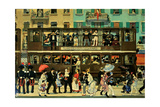 The Tram in Monza Giclee Print by Aroldo Bonzagni