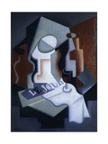 Still Life with Bottle and Fruit Giclee Print by Juan Gris