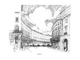 Regent's Quadrant Giclee Print by Joseph Pennell