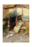 At the Cottage Door, 1913 Giclee Print by Thomas Mackay