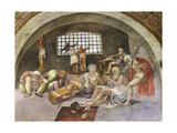 Chained Prisoners, Fresco Giclee Print by Giulio Romano